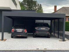 Carport Plans, Carport Garage, Garage House, House Front, Carport Modern, Modern Garage, Carport Canopy, Pergola Carport, Design Garage