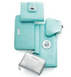 Richard Lambertson & John Truex for Tiffany & Co. French wallet, zip Continental wallet, zip card case, small City clutch & coin purse