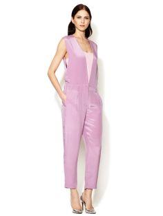 Silk V-Neck Jumpsuit by 3.1 Phillip Lim at Gilt