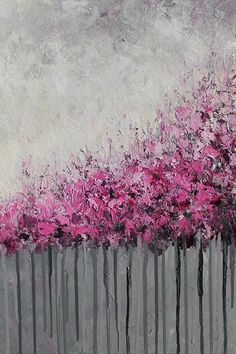 Cherry Blossoms Original Acrylic Painting Art Abstract by mgotovac