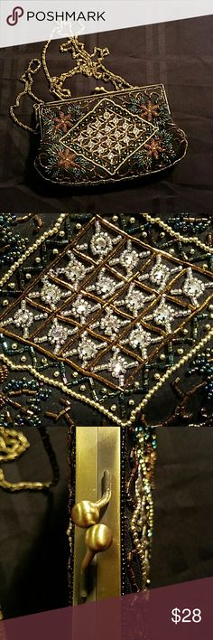 Lovely beaded evening party bag purse No damage. No missing beads unbranded  Bags Mini Bags
