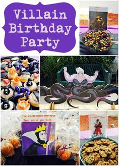 Villains Birthday Party Ideas with a Clever Food Spread