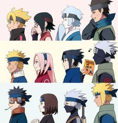 รูปภาพ naruto, boruto, and anime Naruto Kakashi, Anime Naruto, Naruto Team 7, Naruto Shippuden Sasuke, Team Minato, Naruto Cute, Sarada Uchiha, Narusaku, Mitsuki Naruto