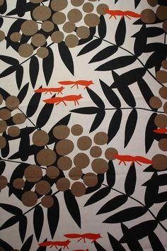Baumwolle Canvas - Fuchs Stoff von Skandinavische Stoffe auf DaWanda.com