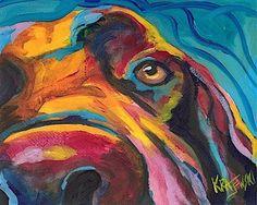 Labrador Retriever 8x10 signed art PRINT RJK from acrylic painting