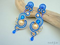 Silver Earrings For Women Little Gifts For Him, Gifts For Girls, Women's Earrings, Silver Earrings, Soutache Jewelry, Gold Pearl, Bridesmaid Jewelry, Blue Gold, Etsy
