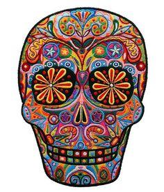 sugar skull embroidery