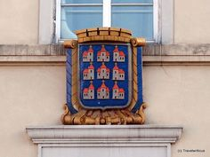 City arms of Neunkirchen at the local city hall