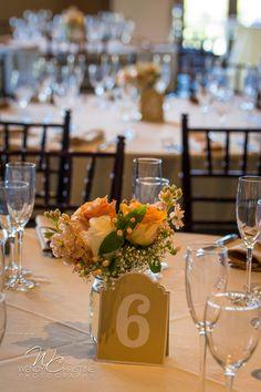 #WeddingCenterpieces  #PeachFloral   #RusticWedding  #OrangeCountyWedding  #AlisoViejoCountryClub  @Roger'sGardens  @WendyChristinePhotography