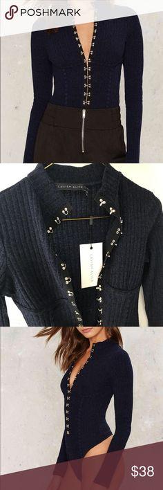 Selling this NastyGal Lavish Alice Ribbed Bodysuit on Poshmark! My username is: anastasia808t. #shopmycloset #poshmark #fashion #shopping #style #forsale #Nasty Gal #Tops