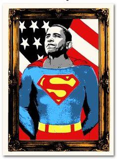 "OMG Posters! » Archive » ""Obama Superman"" Art Print by Mr. Brainwash"