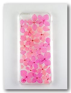 Handmade iPhone 5c case Resin with Dried Flowers  by Annysworkshop