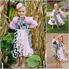 Violette's Swirly Peasant Dress PDF Sewing Pattern from Create Kids Couture