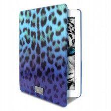Forro iPad 2 3 Retina Just Cavalli - Booklet Funcion Soporte Micro Leopard Azul  Bs.F. 630,67