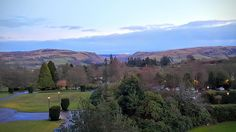 The drama of the Scottish Highlands. From my balcony at The Gleneagles Hotel Visit Britain, Exeter, Scottish Highlands, Lake District, Samsung Galaxy S6, Edinburgh, Balcony, Golf Courses, Drama