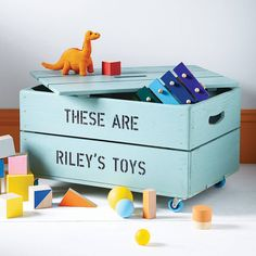 personalised toy crate by plantabox | notonthehighstreet.com