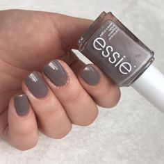 This sleek granite gray luxe of lacquers goes with everything.