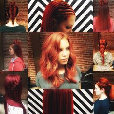 Shout out to one of Envy's favorite red heads, love ya girl!  Creations by Premier Artist Stacey Steffes  @carlchenaufdeutsch  #red #redhead #sassy #sexy #creations #haircreations #braids #topknot #sleek #wavy #tousled #lovehair #envy #envyme