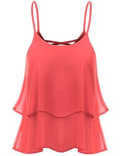 TWINTH Sleeveless Loose Fit Strap Loose Fit Tank Top Style Blouse Coral L  Special Offer: $13.99  277 Reviews BE FASHIONABLE WITH TWINTH Because of Slim  Simple Blouse design give you an elongated slimming look and confidence. You can wear this Tank Top Blouse the inside and...