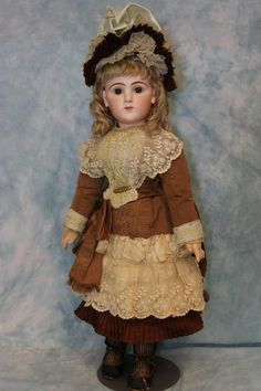 """26"""" Rare French Bisque Character Doll 225 Emile Jumeau Art Character from turnofthecenturyantiques on Ruby Lane"""