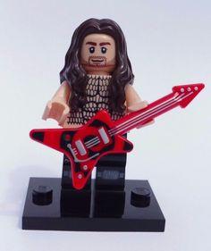 CUSTOM 100% LEGO ROCKER HEAVY METAL ROCK STAR WITH PRINTED TORSO NO PAINT USED #LEGO