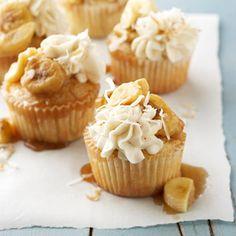 bananas foster cupcakes