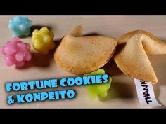 Easy Sweets; Fortune Cookie & Konpeito - Polymer Clay Tutorial - YouTube