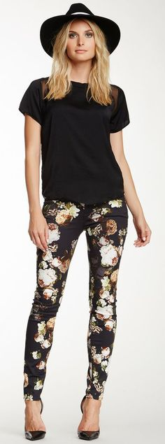 Floral skinny jean @Pascale De Groof