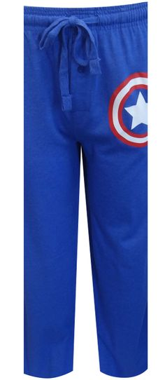 Marvel Comics Captain America Logo Lounge Pants This superhero favorite is ready for action! These lounge pants for men feature...