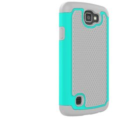 LG Spree Case, LG Optimus Zone 3 Case,LG K4 Case,LUOLNH [2 in 1] Shock Absorbing Hybrid Best Impact Defender Rugged Slim Cover Shell w/ Plastic Outer & Rubber Silicone Inner for LG K4 LTE / LG Spree(Grey/Turquoise): Amazon.ca: Cell Phones & Accessories