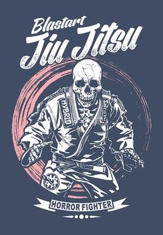 'Jiu jitsu Horror Fighter' Poster by blastart Judo, Mma, Martial Arts Techniques, Art Techniques, Jiu Jitsu Techniques, Karate, Jiu Jitsu Moves, Jiu Jitsu Fighter, Jiu Jitsu Training