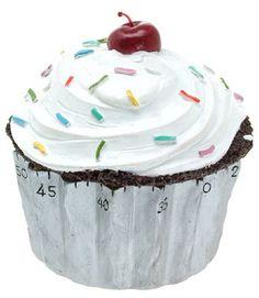 Cupcake Kitchen Timer Might Get You a Batch of Cupcakes or Two Kitchen Dinning, Kitchen Art, Kitchen Hacks, Kitchen Gadgets, Kitchen Stuff, Eat Greek, Egg Timer, Kitchen Necessities, Cupcake Shops