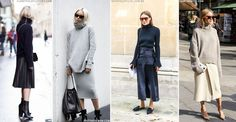 Like Ant and Dec and Posh and Becks, some things are just meant to go together. Case in point the midi skirt and polo neck, the fail-safe option for baring a bit of leg during autumn and beyond. From Pernille Taesbaek to Giorgia Tordini, the style set have long had this figured, sporting everything from tight roll necks with billowing midis to chunky knits and slick leather offerings, and now's the perfect time to emulate their effortless yet always cool look.