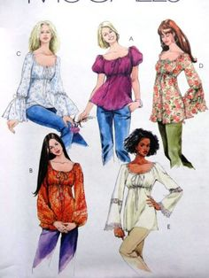 women's blouse patterns for sewing   ... M5050 MISSES WOMEN BLOUSE, TOPS TUNICS SEWING PATTERN PLUS SIZE XS-XL