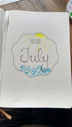 Hello July! #bulletjournal #journaling #month #july #luglio