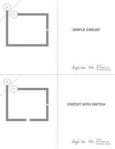 You can quickly create circuits on paper using copper tape, clear tape, and some simple electronics. The image above is from a workshop Jie taught at the Exploratorium museum. Components (available...