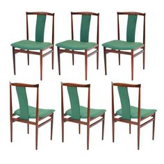 Sculptural Rosewood Dining Chairs - Set of 6 - Image 1 of 7