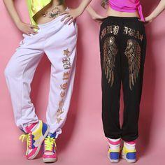Encontrar Más Pantalones y Capris Información acerca de 2013 nuevo reloj  Jazz harén mujeres hip hop db9650afc88