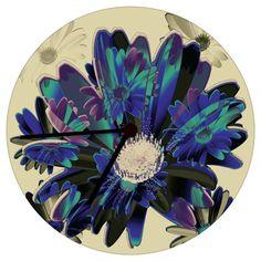 Bloemen Klok MWL Design NL   van MWL Design NL Interior Art and Accessoires op DaWanda.com