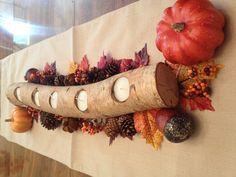 DIY fall centerpiece.