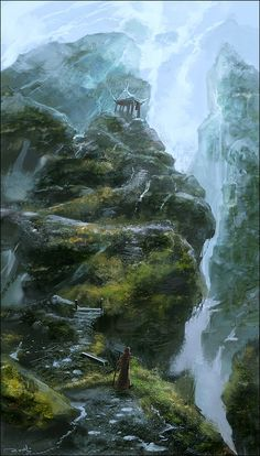.waterfall. by *noah-kh on deviantART Concept Art Bonetech3D SteamPunk Fashion Sci-Fi