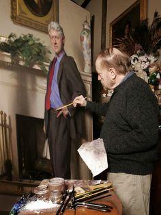 "ODD ORBIT: News Oddities around the World: Bill Clinton Portrait ""Hides"" Monica in the Background!"