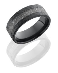 Meteorite and Zirconium Comfort Fit Band
