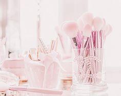 "kiyumie: ""/**/ My edit "" All Things Cute, Girly Things, Girly Stuff, Pretty Pastel, Pastel Pink, Beauty Art, Diy Beauty, Makeup Storage Hacks, Princess Aesthetic"