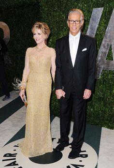 Jane Fonda wearing Jimmy Choo 'Isabel' at the Vanity Fair Oscars Party #oscars GETTY