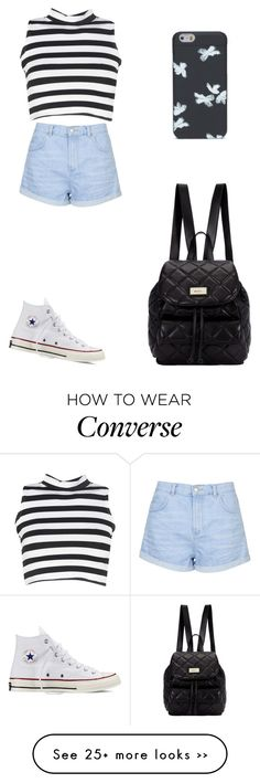 """""""Untitled #1801"""" by ihavepashion-forfashion on Polyvore featuring Topshop, Converse, Boohoo, DKNY and Marc by Marc Jacobs"""