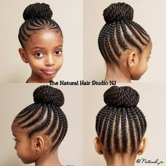 It's Bun season! - It's Bun season! It's Bun season! Box Braids Hairstyles, Lil Girl Hairstyles, Black Kids Hairstyles, Natural Hairstyles For Kids, Kids Braided Hairstyles, My Hairstyle, Hairstyles 2018, Relaxed Hairstyles, Braided Updo