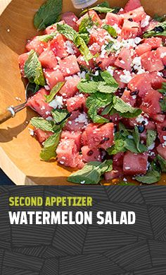 Make your camp mates happy with this refreshing and delicious watermelon salad!
