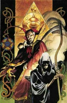 Doctor Strange turns Marvel Knight and plays supernatural detective when a series of bizarre robberies and a spate of spontaneous combustions set him on the trail of an old enemy. Magic meets noir in Marvel Comics Art, Marvel Comic Books, Comic Books Art, Comic Art, Marvel Comic Character, Comic Book Characters, Marvel Characters, Benedict Cumberbatch, Dr Strange Movie