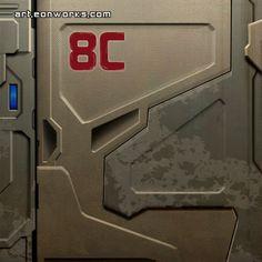 Sci-Fi Door Texture | scifi door texture